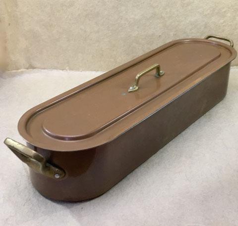 フランスブロカント  魚料理用鍋 大型ポワソニエール(銅製)