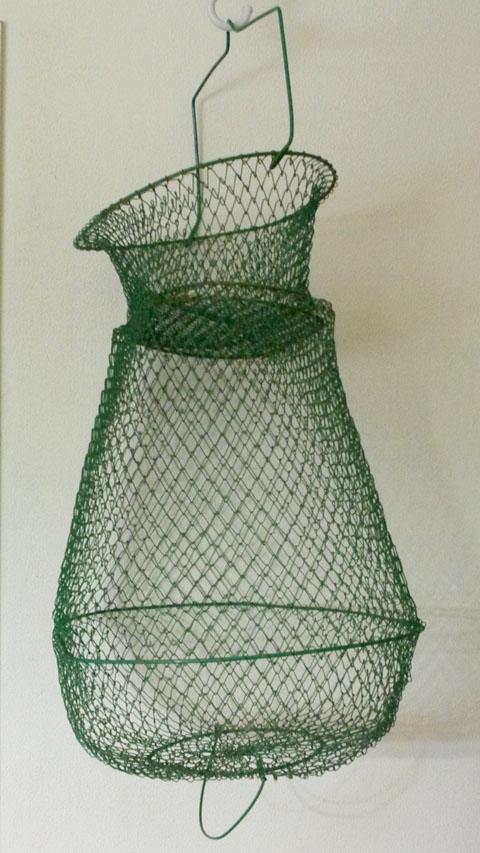 フランス ブロカント 魚籠(びく)