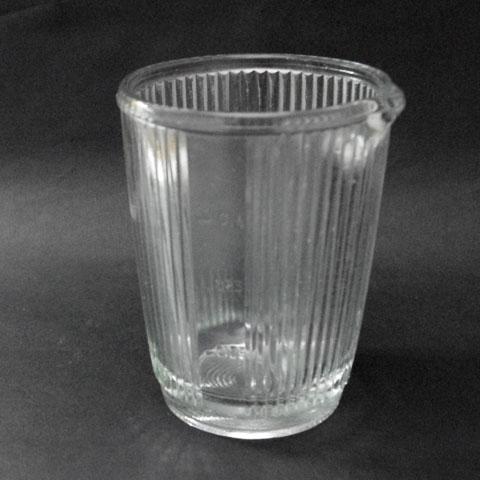 フランス ブロカント  ガラス メジャー (縦縞)