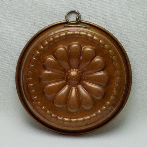 フランス ブロカント 銅製モールド (花)