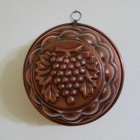 フランス ブロカント 銅製モールド (ぶどう)
