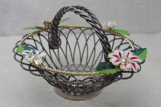 アンティーク シルバー パニエ (花付き)1950年代
