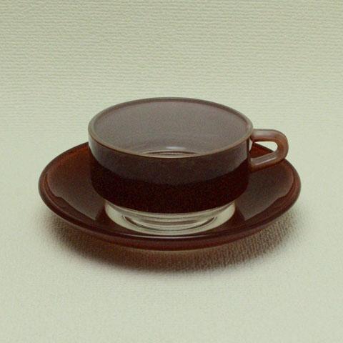 オールド・デュラレックス デミタスカップ&ソーサー (チョコレート)
