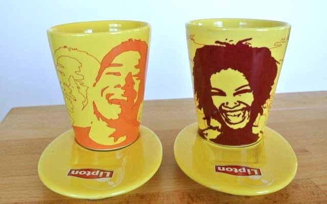 LIPTON 1980年代 ティーカップ&ソーサー(2個セット)