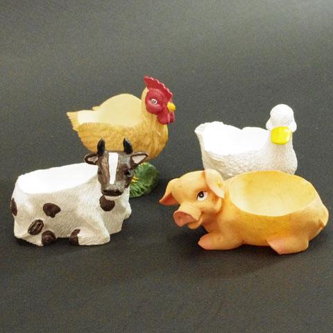 フランス ブロカント 動物 エッグスタンド (4種)