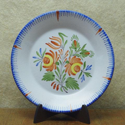 フランス アンティーク  手描き 花模様皿(1900年頃)