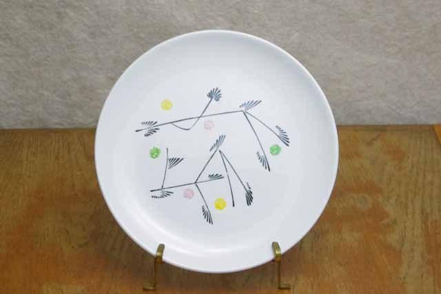 フランス ブロカント ジアン製デザート皿(1950年代)
