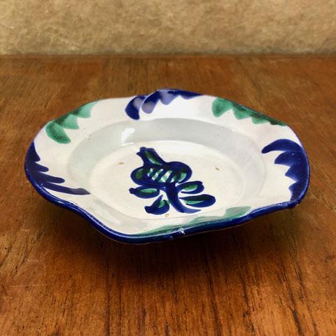 フランスブロカント 手描き小皿