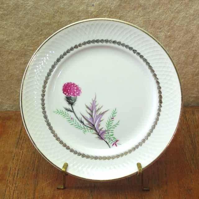 フランス ブロカント 「あざみ」 デザート皿 (ムーランドルー窯)