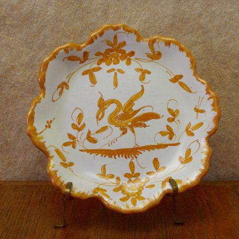 フランス ブロカント  花形 小皿(オレンジ)