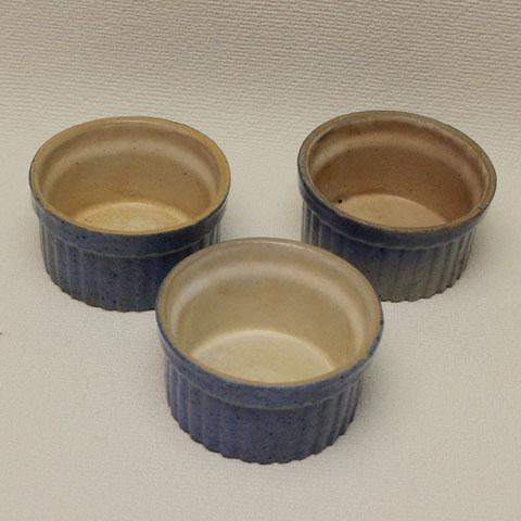 フランス ブロカント  ココット皿 (ブルー)