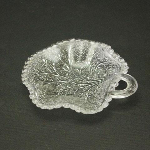 フランス ブロカント 木の葉小皿 (ガラス)