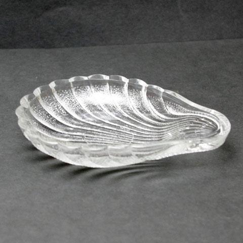 フランス ブロカント ガラス皿 (シェル)