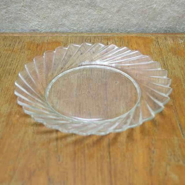 フランス製 オールドデュラレックス デザート皿(プリーツ)