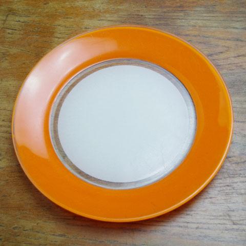 フランス製 オールドデュラレックス ディナー皿(オレンジ)