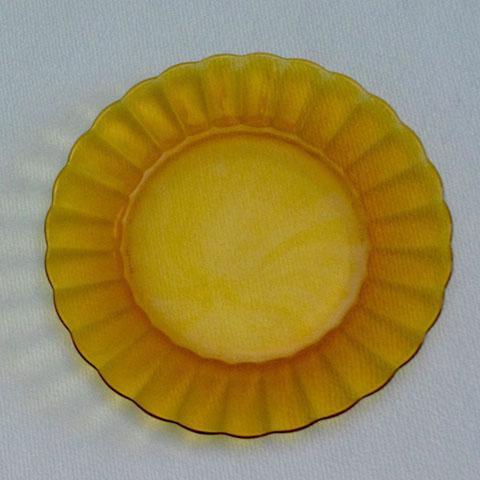 フランス製オールド・デュラレックス マーガレット皿(アンバー)
