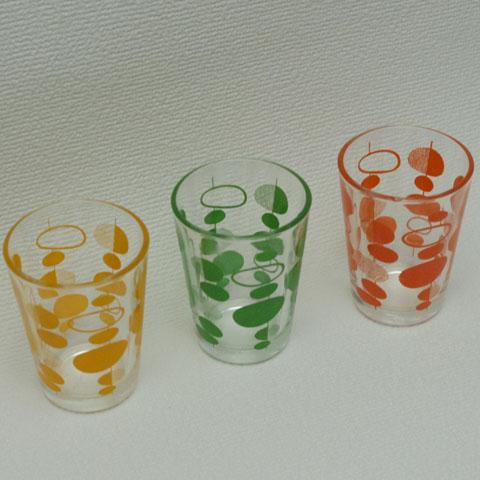 フランス ブロカント ショットグラス 3個セット(1970年代)