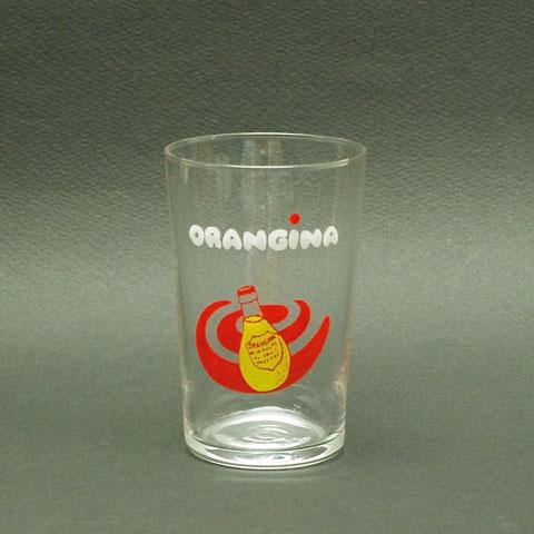 """ORANGINA""オランジーナ グラス (オレンジ瓶)"
