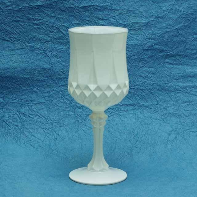 フランス ブロカント クリスタル ワイングラス (白)