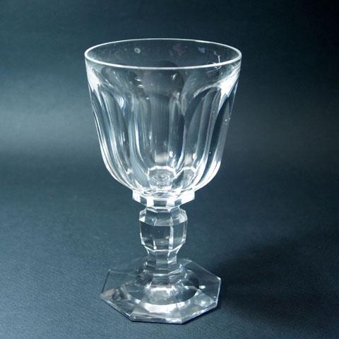 フランス ブロカント クリスタル ワイングラス(底8角)
