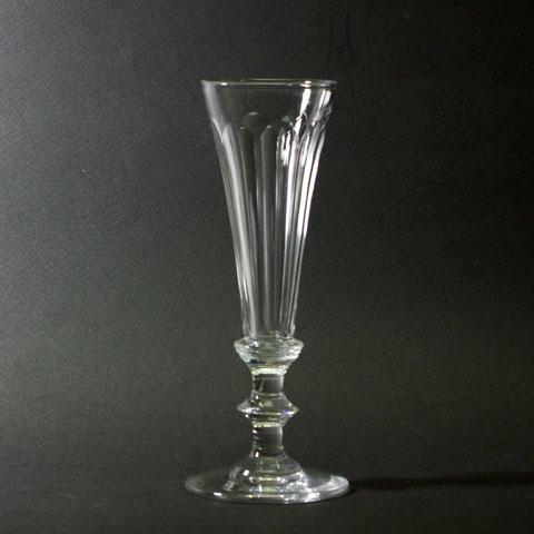 フランス ブロカント クリスタル フルート グラス(丸底)