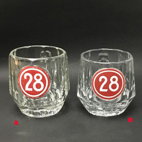 """フランス ブロカント  カフェ""""28""""ビールグラス(1960年代)"""