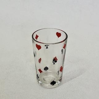 フランスブロカント  トランプ柄グラス(ミニサイズ)