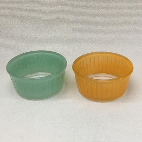 フランス製 オールド・デュラレックス  ココット皿 (ミントグリーン,オレンジ)