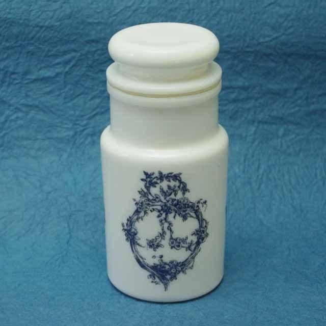 フランス ブロカント ミルクガラス キャニスター(Italy 製)