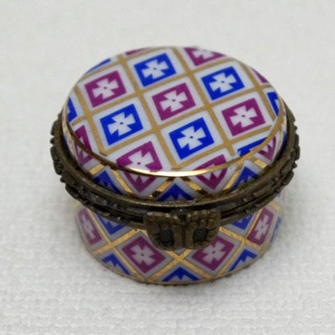 フランス ブロカント  ピルケース(2色ダイヤ柄)