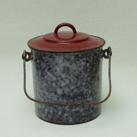 フランスブロカント ホウロウ製 お弁当箱