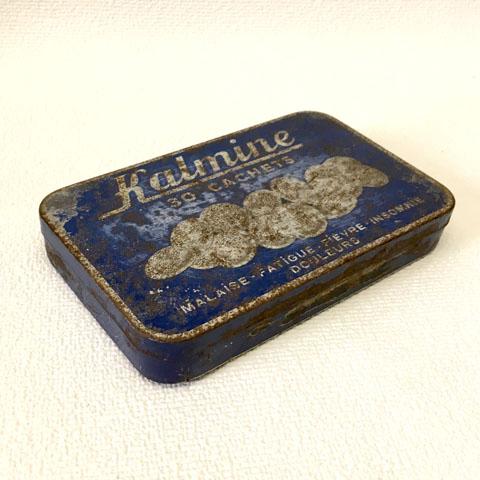 """フランス ブロカント """"KALMINE""""カルミン 缶 (大)"""