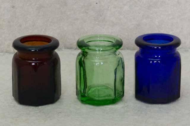 フランス ブロカント ガラス瓶(3個セット)