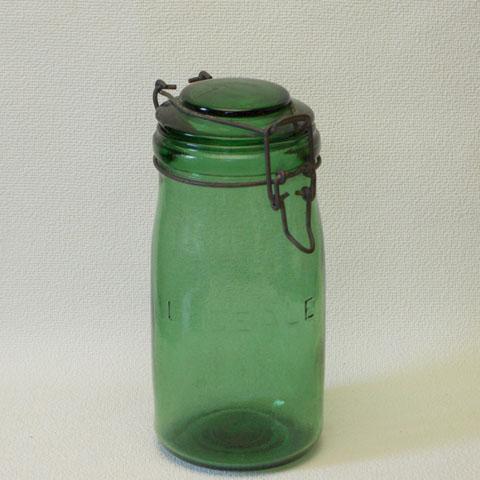 アンティーク  ガラス保存ビン (L'IDEALE)