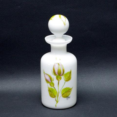 フランス ブロカント  オパリンガラス瓶    (大)