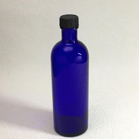 フランス ブロカント ブルーガラス瓶