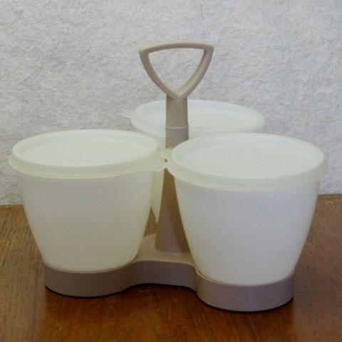 ヴィンテージ タッパーウェア  (ジャム容器3個)