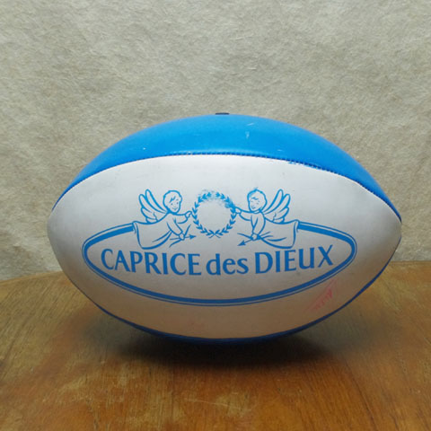 """フランス ブロカント """"CAPRICE des DIEUX"""" ラグビーボール"""
