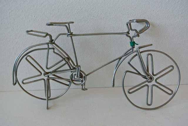 フランス ブロカント 針金細工 自転車