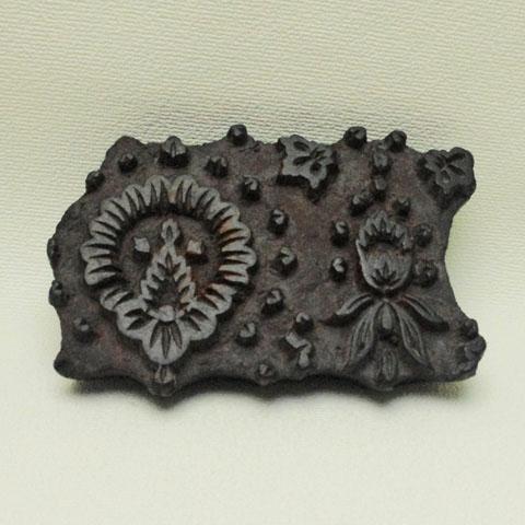 フランス ブロカント 木彫り 壁用 スタンプ