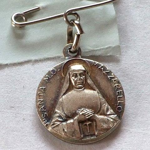 アンティーク  メダイ   Ste Bernadette (聖ベルナデット)