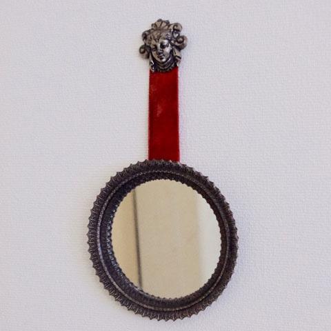 フランス ブロカント 1940年代 吊り鏡