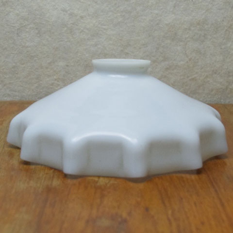 フランス ブロカント ランプシェード (ミルクガラス)
