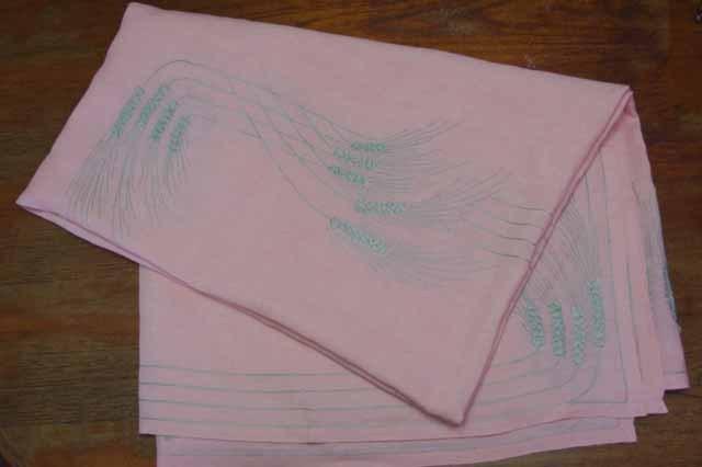 フランスブロカント 刺繍 テーブルクロス&ナフキン セット (麻)
