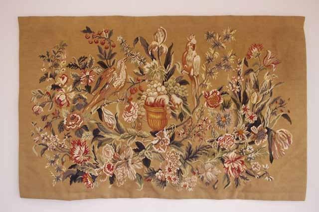 フランスブロカント 手刺繍 タペストリー