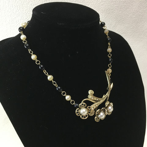 フランス ブロカント 花束 ネックレス
