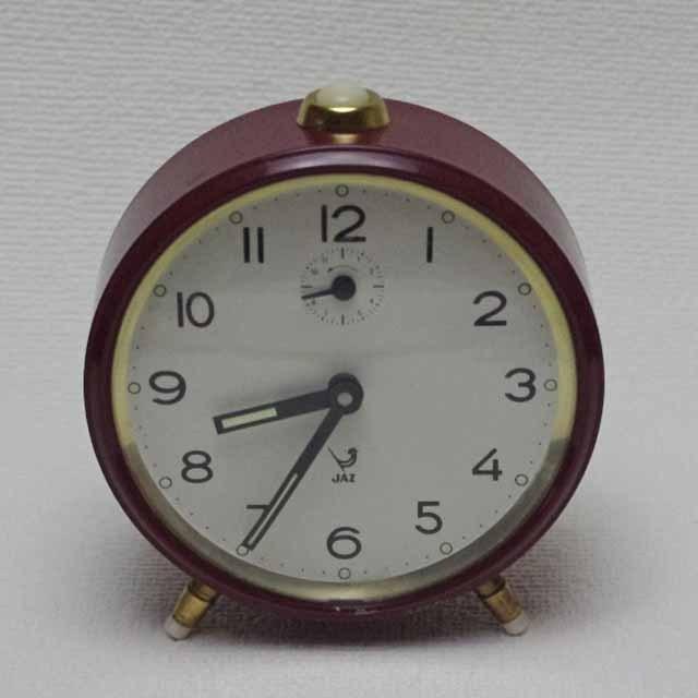 フランスブロカント 目覚まし時計 あずき色(Jaz社)