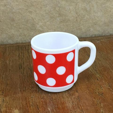 アルコパル デミタスカップ  (赤水玉)