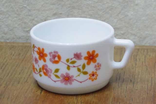 アルコパル コーヒーカップ  (ピンク花柄)