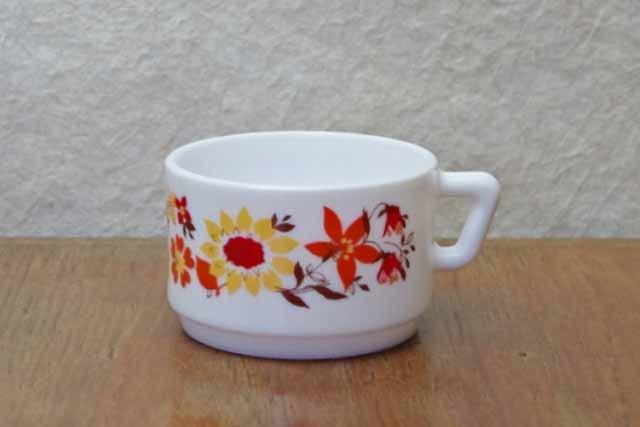 アルコパル コーヒーカップ  (オレンジ花)